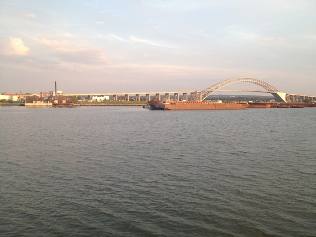 Bayonne Bridge from Newark Bay