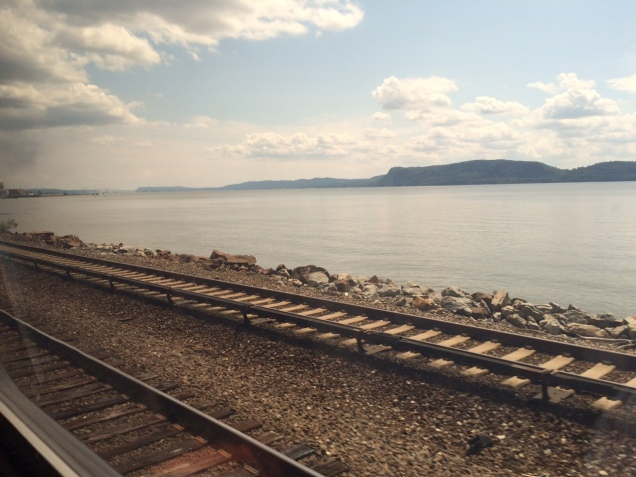 Amtrak's Empire Service, running along the Hudson River